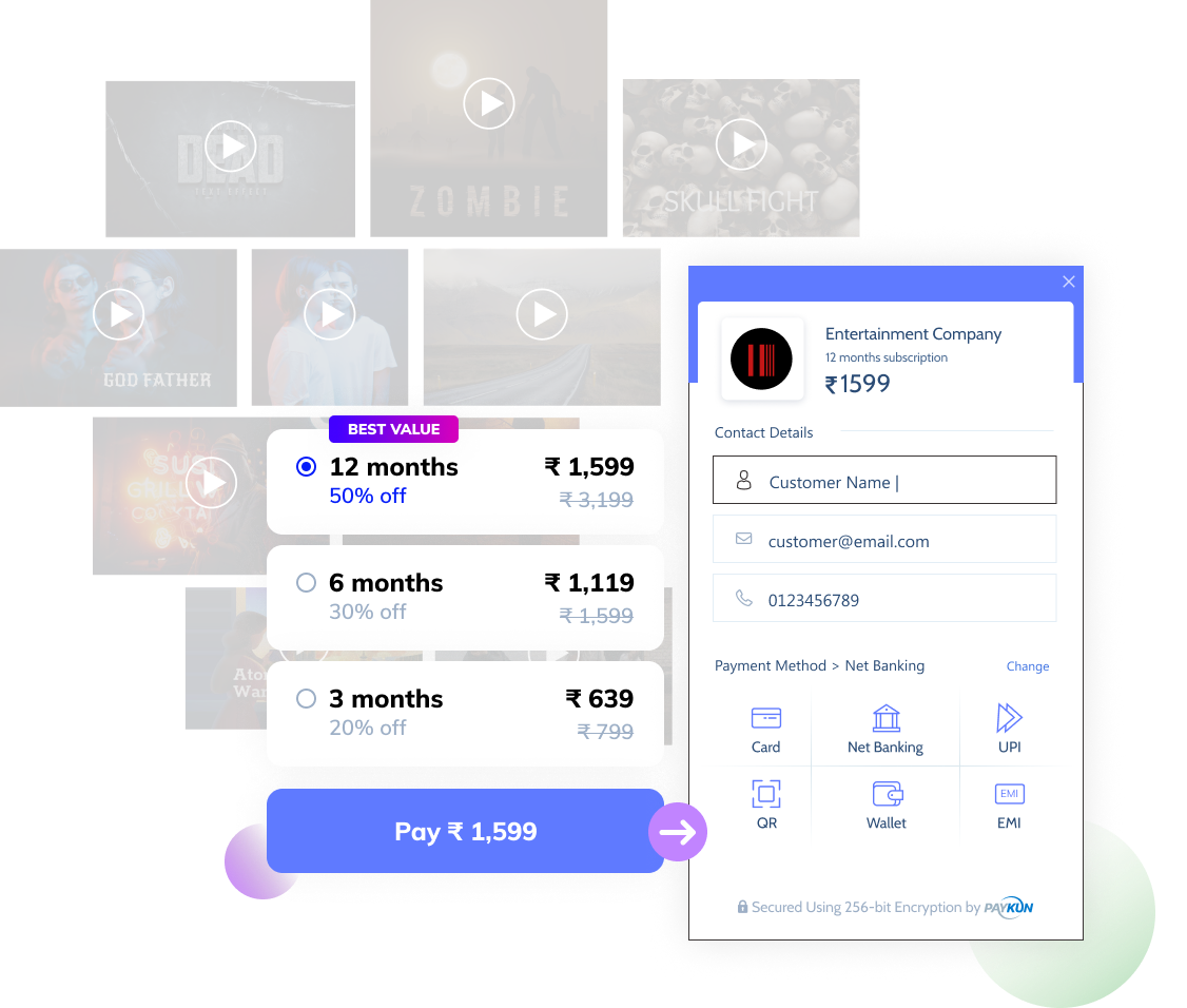 payment gateway for entertainment